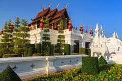 Den kungliga paviljongen, kungliga personen parkerar Rajapruek Arkivbild