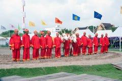 Den kungliga ploga ceremonin i Thailand Arkivbild