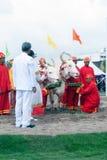 Den kungliga ploga ceremonin i Thailand Royaltyfri Fotografi