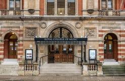 Den kungliga skolan av musik i London arkivbild