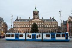 Den kungliga slotten av Amsterdam arkivfoton