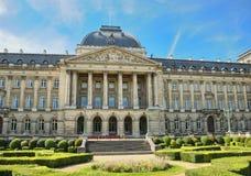 Kunglig slott i Bryssel Arkivbild