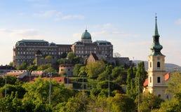 Den kungliga slotten i Budapest Royaltyfria Foton