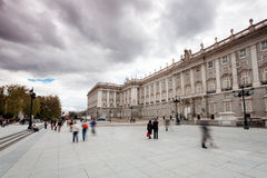 Den kungliga slotten i Madrid (Spanien) Arkivbilder