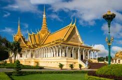 Den kungliga slotten i Phnom Penh Arkivbild