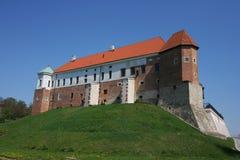 Den kungliga slotten i Sandomierz Arkivbilder