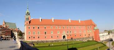 Den kungliga slotten i Warszawa Arkivfoton