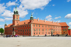 Den kungliga slotten i Warszawa, Polen Royaltyfri Bild