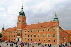 Den kungliga slotten i Warszawa, Polen Fotografering för Bildbyråer