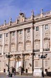 Kunglig slott Madrid Arkivfoton
