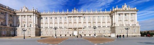 Kunglig slott Madrid Arkivbilder