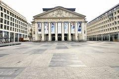 Den kungliga teaterlaen Monnaie i Bryssel i Belgien Royaltyfria Foton