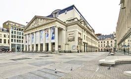 Den kungliga teaterlaen Monnaie i Bryssel i Belgien Arkivfoton
