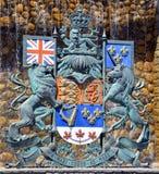 Den kungliga vapenskölden av Kanada Arkivbilder