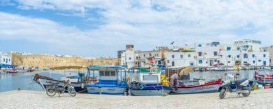 Den kust- staden Arkivfoto