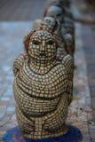 Den kvinnliga ängeln av den kulöra mosaiken Arkivbilder