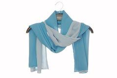 Den kvinnliga halsduken är på vit royaltyfri bild