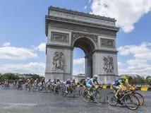 Den kvinnliga pelotonen i Paris - Lakurs vid Le-Tour de France 2 Royaltyfri Fotografi