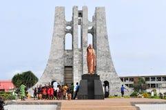 Den Kwame Nkrumah minnesmärken parkerar Arkivfoto