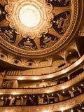 Den Kyiv operahuset är glänsande i guld- och harmoniskt ljus - MUSIK för _för UKRAINA _-OPERA royaltyfria bilder