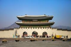 Den Kyongbokkung slotten Arkivfoton