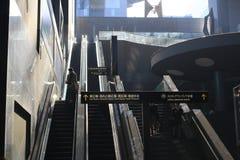 Den Kyoto stationen är den andra - största stationen i Japan arkivbilder