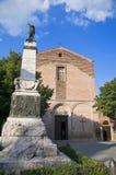 den kyrkliga cittadellaen francesco pieve st umbria Royaltyfria Bilder