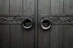 Den kyrkliga dörren Arkivbild