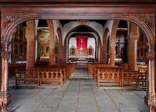 Den kyrkliga Iglesia de Nuestra de laen Asuncion Arkivfoto
