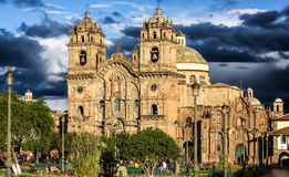 Den kyrkliga laen Compania i Cusco, Pe Arkivbilder