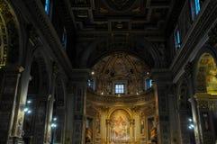 Den kyrkliga Sanen Marcello al Corso i Rome arkivfoto