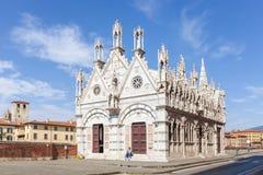 Den kyrkliga Santa Maria della Spina i Pisa, Italien Royaltyfria Foton