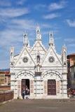 Den kyrkliga Santa Maria della Spina i Pisa, Italien Arkivfoto