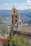 Den kyrkliga Santa Maria la Mayor i Morella Spanien Royaltyfri Bild