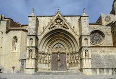 Den kyrkliga Santa Maria la Mayor i Morella Spanien Royaltyfria Foton