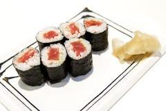 Tonfisk Makizushi Arkivbilder