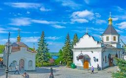 Den lägre delen av Kiev Lavra Arkivbild
