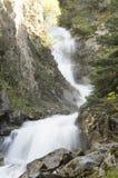 Den lägre Reid Falls i Skagway, Alaska arkivbild