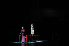 Den långa handlingen för förälskelseväg- först av dansdrama-Shawanhändelser av forntiden Royaltyfria Bilder