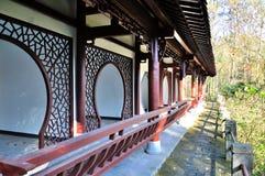 Den långa korridoren i Daizheng parkerar Arkivfoto