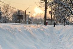 Den långa vintern fortsätter i Europa Royaltyfri Fotografi