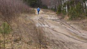 Den långdistans- löparen arkivfilmer
