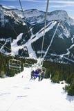 den Lake Louise semesterorten skidar Royaltyfria Bilder