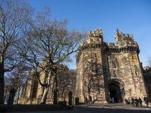 Den Lancaster slotten i England är i mitten av staden arkivbild