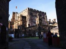 Den Lancaster slotten i England är i mitten av staden arkivbilder
