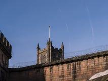 Den Lancaster slotten i England är i mitten av staden royaltyfria bilder
