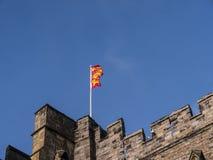 Den Lancaster slotten och det tidigare fängelset i England är i mitten av staden arkivbild