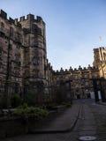Den Lancaster slotten och det tidigare fängelset i England är i mitten av staden arkivbilder