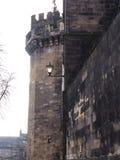 Den Lancaster slotten och det tidigare fängelset i England är i mitten av staden royaltyfri bild