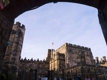 Den Lancaster slotten och det tidigare fängelset i England är i mitten av staden Royaltyfria Bilder